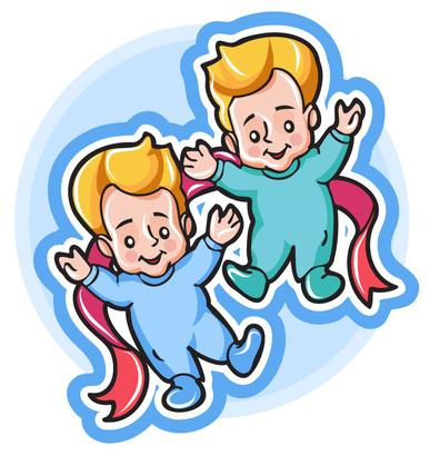 criança gêmeos